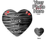 I love black and white Playing Cards 54 (Heart)  Front - Heart9
