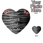 I love black and white Playing Cards 54 (Heart)  Front - HeartA