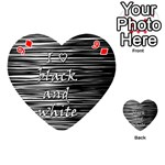 I love black and white Playing Cards 54 (Heart)  Front - Diamond9