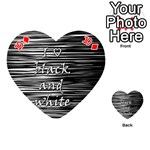 I love black and white Playing Cards 54 (Heart)  Front - Diamond10