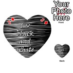 I love black and white Playing Cards 54 (Heart)  Front - DiamondJ