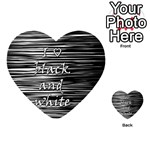 I love black and white Playing Cards 54 (Heart)  Back
