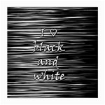 I love black and white Medium Glasses Cloth (2-Side) Back