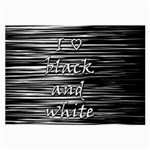 I love black and white Large Glasses Cloth Front