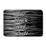 I love black and white Small Doormat  24 x16 Door Mat - 1