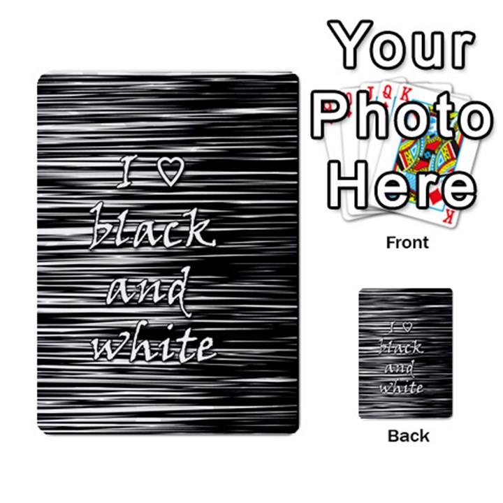 I love black and white Multi-purpose Cards (Rectangle)
