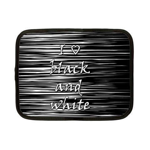 I love black and white Netbook Case (Small)