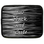 I love black and white Netbook Case (Large) Front