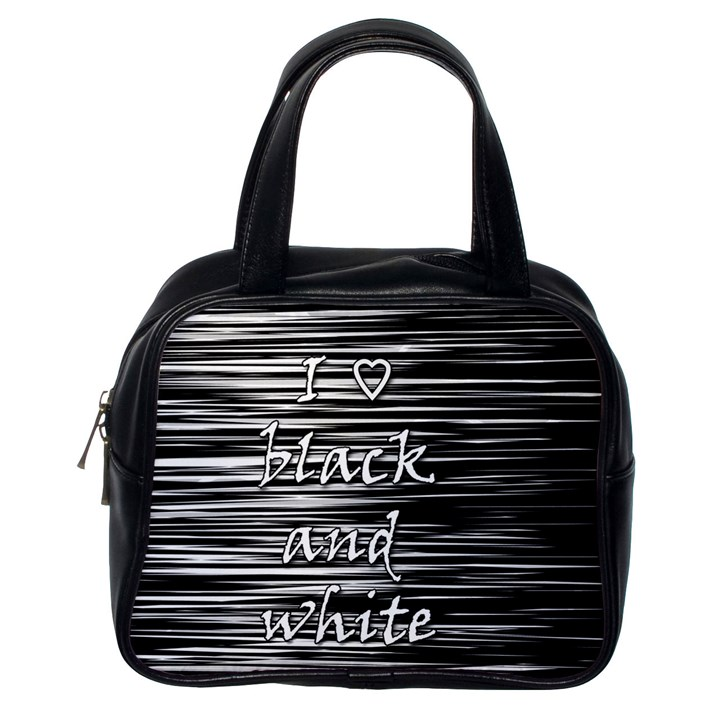I love black and white Classic Handbags (One Side)