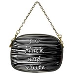 I love black and white Chain Purses (Two Sides)  Front