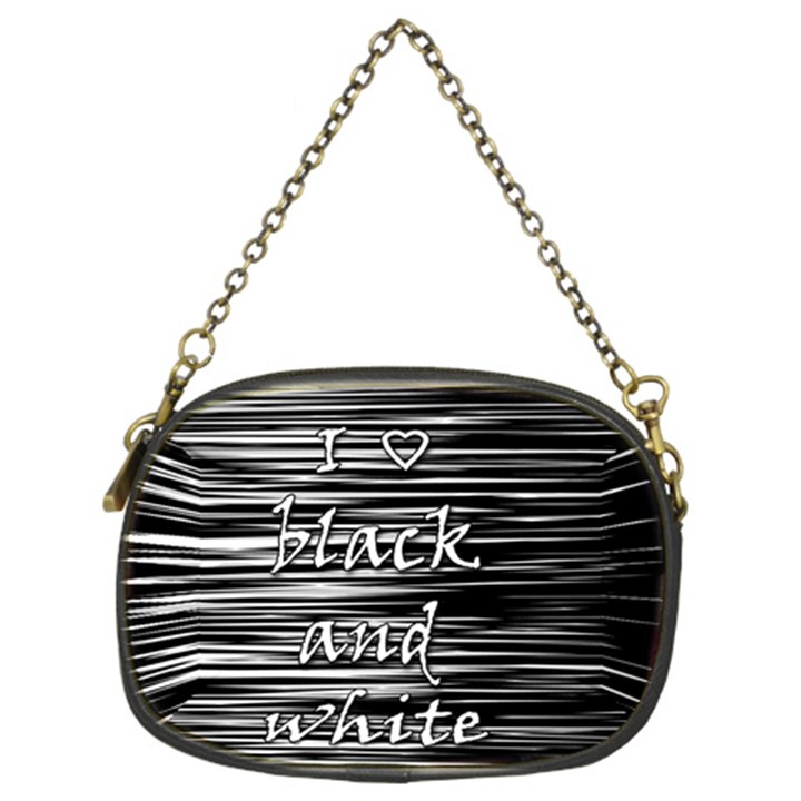 I love black and white Chain Purses (Two Sides)