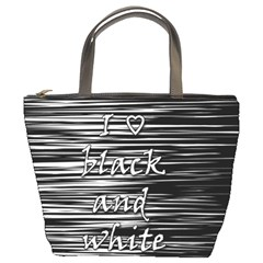 I love black and white Bucket Bags