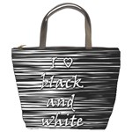 I love black and white Bucket Bags Front