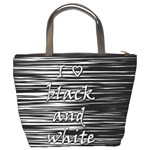 I love black and white Bucket Bags Back