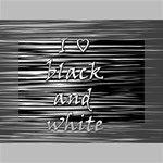I love black and white Mini Canvas 6  x 4  6  x 4  x 0.875  Stretched Canvas