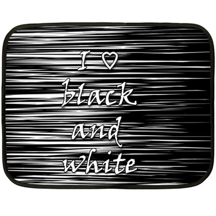 I love black and white Double Sided Fleece Blanket (Mini)
