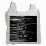 I love black and white Recycle Bag (One Side) Front