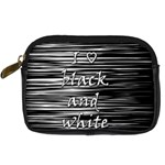 I love black and white Digital Camera Cases Front
