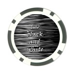 I love black and white Poker Chip Card Guards (10 pack)  Front