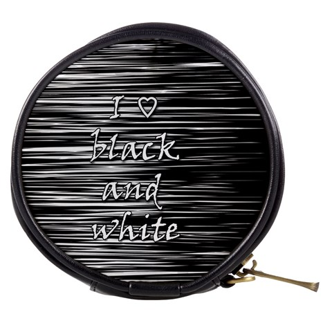 I love black and white Mini Makeup Bags