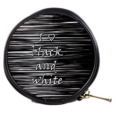 I love black and white Mini Makeup Bags