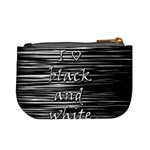 I love black and white Mini Coin Purses Back