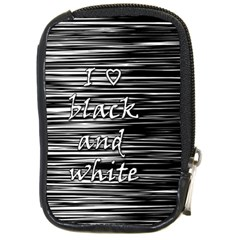I Love Black And White Compact Camera Cases