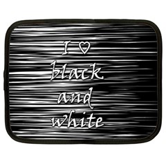 I Love Black And White Netbook Case (xl)