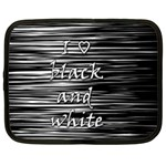 I love black and white Netbook Case (XL)  Front