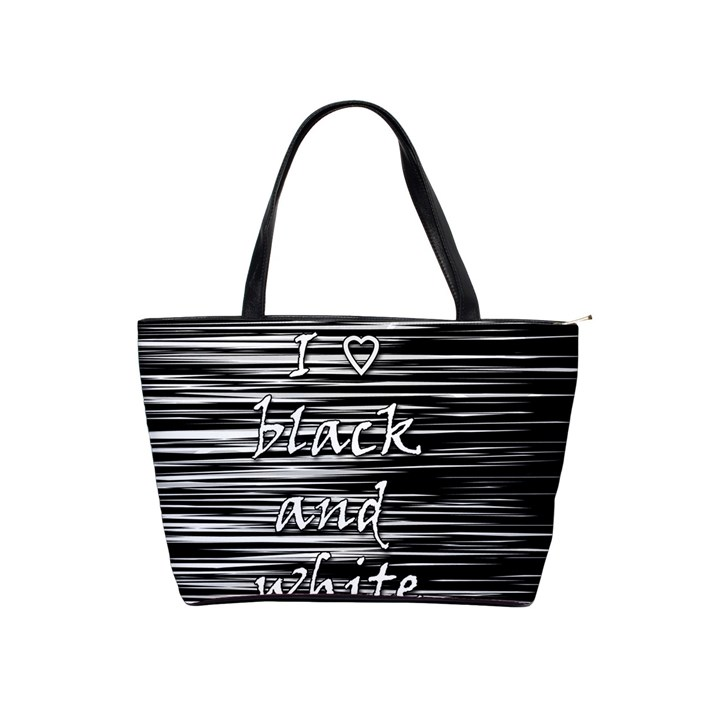 I love black and white Shoulder Handbags