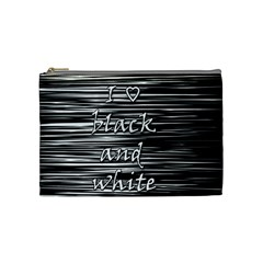 I love black and white Cosmetic Bag (Medium)