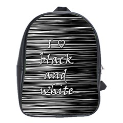 I Love Black And White School Bags(large)