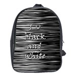 I love black and white School Bags(Large)  Front
