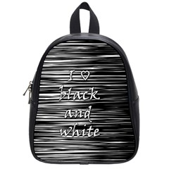 I love black and white School Bags (Small)