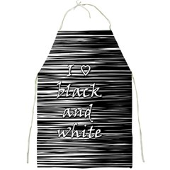 I love black and white Full Print Aprons