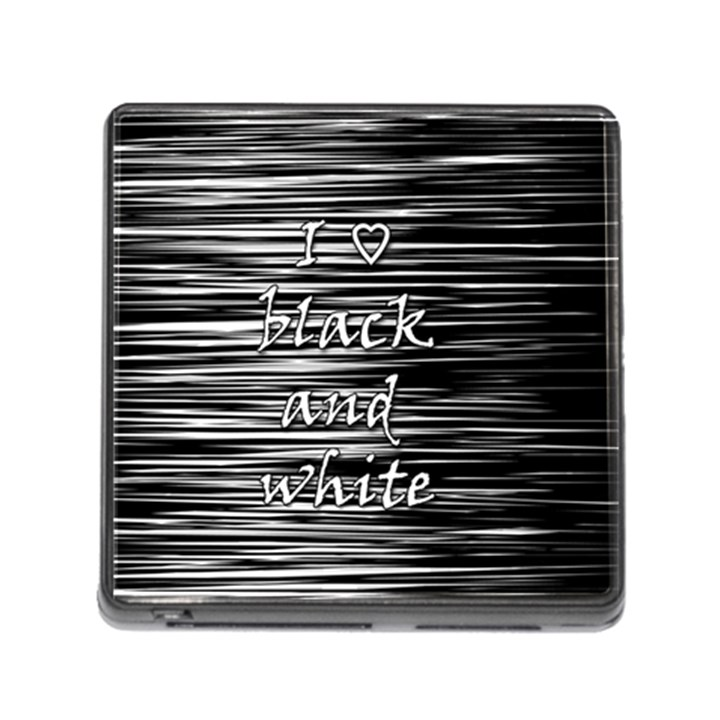 I love black and white Memory Card Reader (Square)