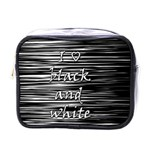 I love black and white Mini Toiletries Bags Front