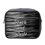 I love black and white Mini Toiletries Bag 2-Side Front