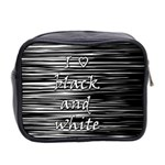 I love black and white Mini Toiletries Bag 2-Side Back