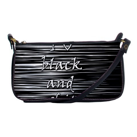 I love black and white Shoulder Clutch Bags