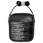 I love black and white Girls Sling Bags Front