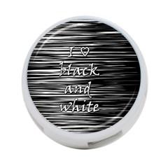 I love black and white 4-Port USB Hub (One Side)
