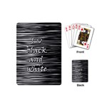 I love black and white Playing Cards (Mini)  Back