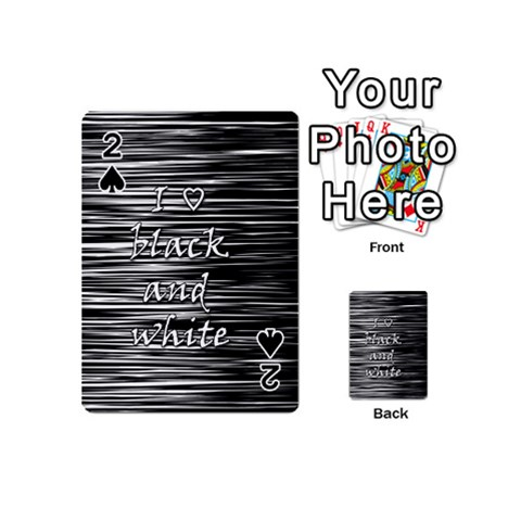 I love black and white Playing Cards 54 (Mini)