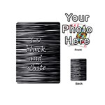 I love black and white Playing Cards 54 (Mini)  Back