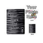 I love black and white Playing Cards 54 (Mini)  Front - Spade9