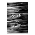 I love black and white Shower Curtain 48  x 72  (Small)  42.18 x64.8 Curtain