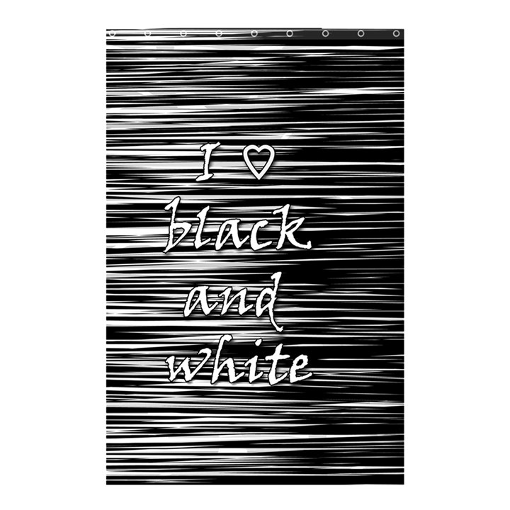 I love black and white Shower Curtain 48  x 72  (Small)