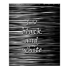 I Love Black And White Shower Curtain 60  X 72  (medium)