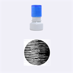 I love black and white Rubber Round Stamps (Small) 1.12 x1.12  Stamp